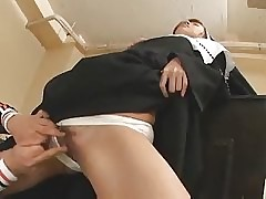 nun porn : asian shaved pussy